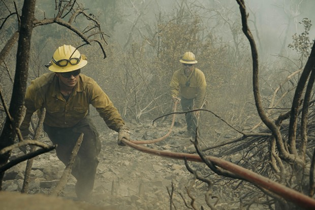 Firefighters work one of the blazes making up the River Complex. - U.S. FOREST SERVICE