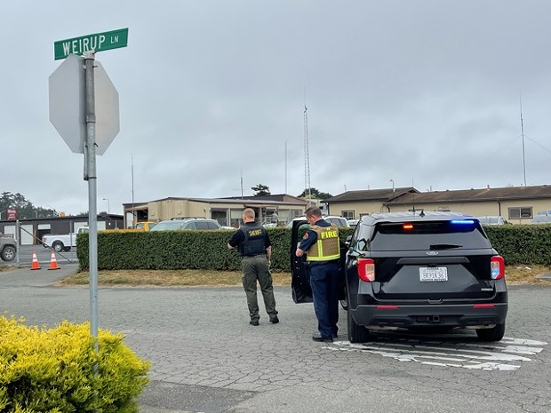 Mulitple law enforcement agencies are on scene. - THADEUS GREENSON