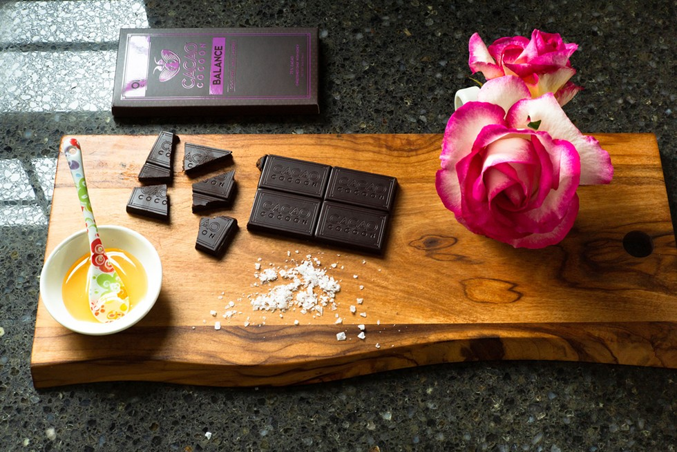 Himalayan salt, honey and organic single-origin Fairtrade cacao form the base of Cacao Cocoon's chocolate bars. - DAVE WOODY
