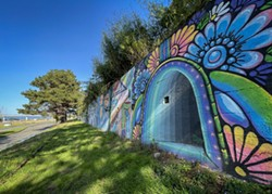 Live Art Wall on Waterfront Drive. - JONATHAN WEBSTER