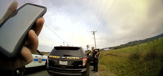 Officers decide to keep following Charles David Chivrell. - SCREENSHOT