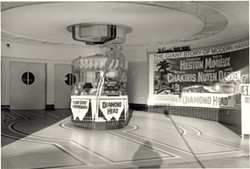 The ticket booth outside, circa 1939-1949. - COURTESY OF CHUCK PETTY AND THE EUREKA CONCERT AND FILM CENTER