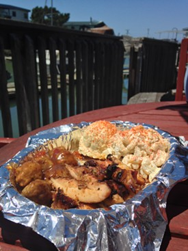 Teriyaki chicken and the potato and macaroni salad of your childhood. - JENNIFER FUMIKO CAHILL
