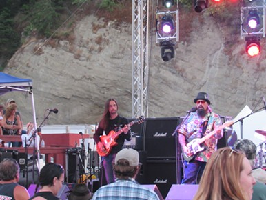 Cover band Rad Company rocking out. - LINDA STANSBERRY
