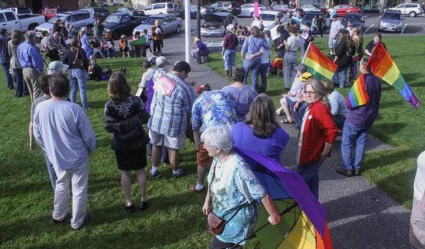 Pride on the Plaza. - FILE
