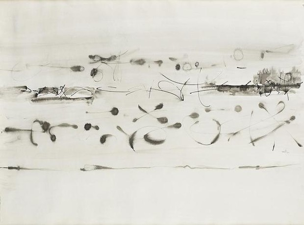 One of six untitled V.S. Gaitonde drawings sold by the Humboldt Arts Council. - BONHAM'S.COM