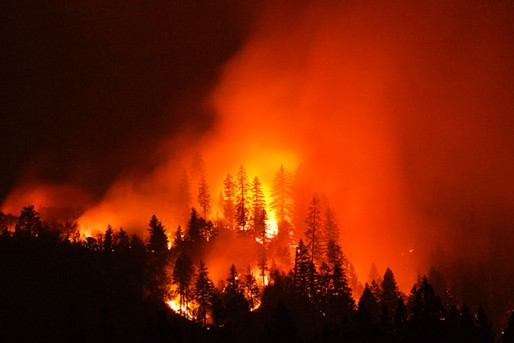 Front line of the Fork Complex fires. - MARK THIESSEN, NATIONAL GEOGRAPHIC CREATIVE