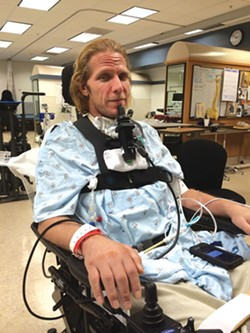Steve Watts continues to rehab from a serious spinal injury he suffered in April 2014 during a So You Wanna Fight event. - FILE PHOTO