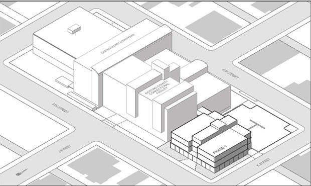 A rendering of the proposed new jail facility. - COURTESY OF THE COUNTY OF HUMBOLDT