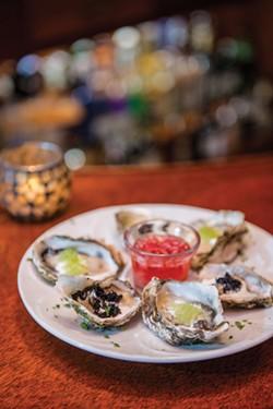 Caviar Kumamotos at Sea Grill. - MARK MCKENNA