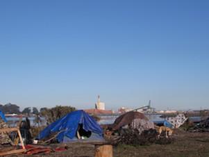 Encampments at the PalCo Marsh. - LINDA STANSBERRY