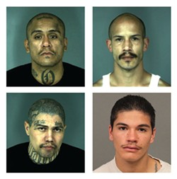 Clockwise from top left: Joe Olivo Jr., Nicholas Leigl, Joe Olivo III, Mario Nunez. - COURTESY OF EPD