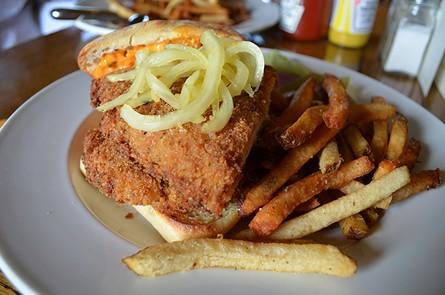 Buttermilk fried chicken goes fancy. - GRANT SCOTT-GOFORTH