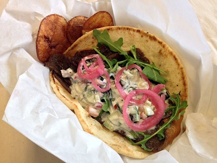 You don't eat meat? It's OK, we'll have gyros. - JENNIFER FUMIKO CAHILL