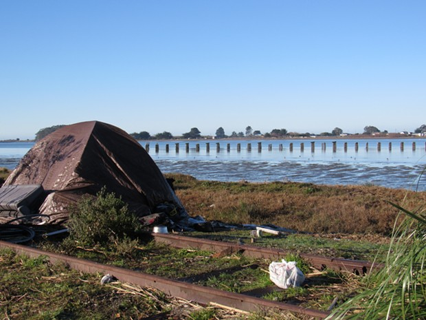 A  camp in the PalCo Marsh. - LINDA STANSBERRY