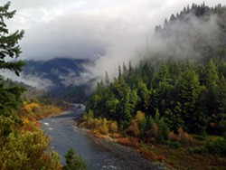 Klamath River at Hopkins Creek, close to Weitchpec. - PHOTO BY KEN MALCOMSON