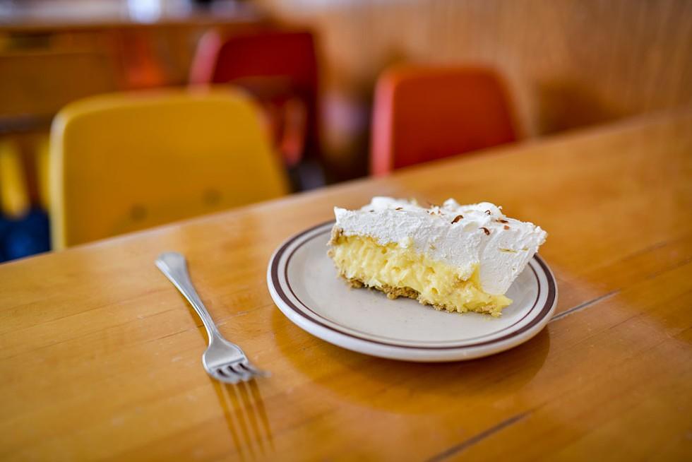 The Palm Café's coconut cream pie. - DREW HYLAND