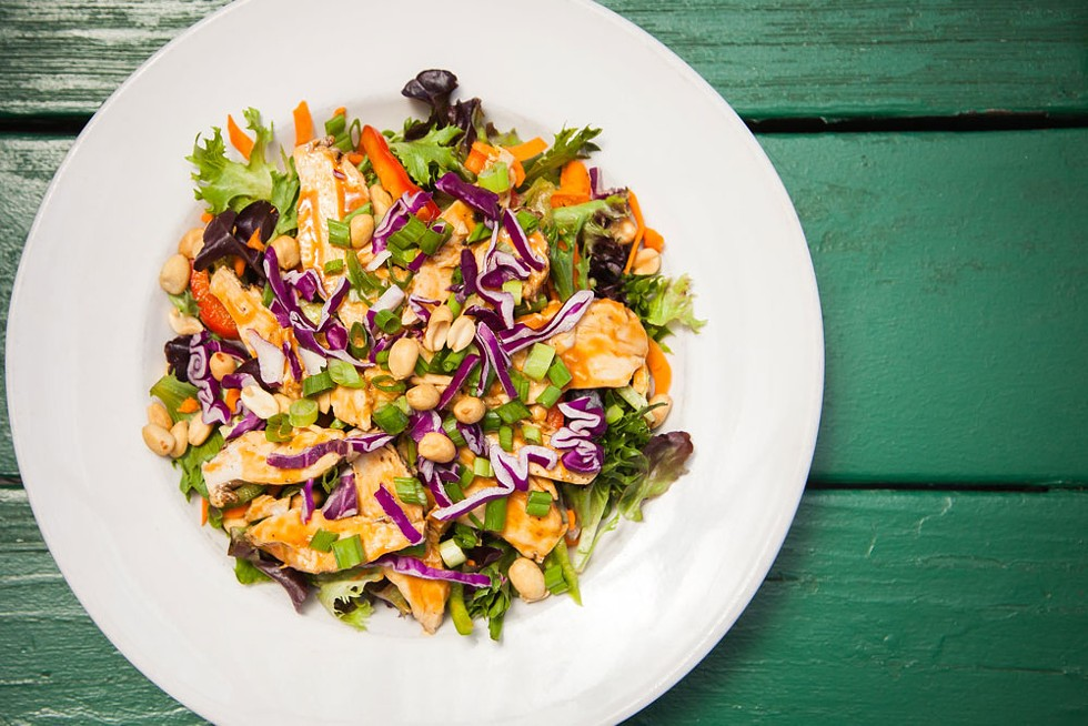 Eel River's Thai peanut chicken salad. - AMY KUMLER