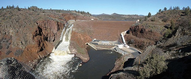 Irongate Dam on the upper Klamath River. - COURTESY OF AMERICAN RIVERS AND KLAMATH RESTORATION COUNCIL