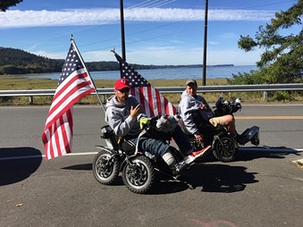 Cook and Long enroute to Humboldt County. - FACEBOOK