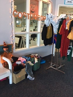 The costume closet at the Adorni Center in Eureka. The city of Eureka is collecting new or lightly used Halloween costumes for children whose families might not otherwise be able to afford them. - KIMBERLY WEAR
