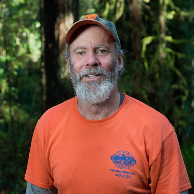 City of Arcata Parks, Facilities and Natural Resources Supervisor Dennis Houghton. - BEAU SAUNDERS
