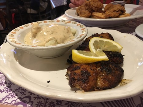 The humble catfish with mashed potatoes. - JENNIFER FUMIKO CAHILL