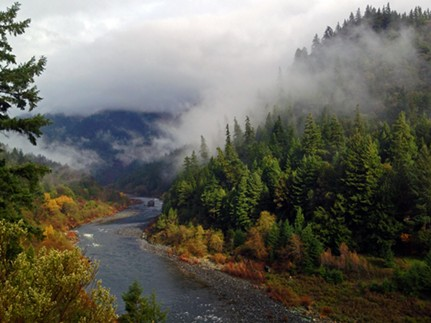 Klamath River at Hopkins Creek, close to Weitchpec. - FILE