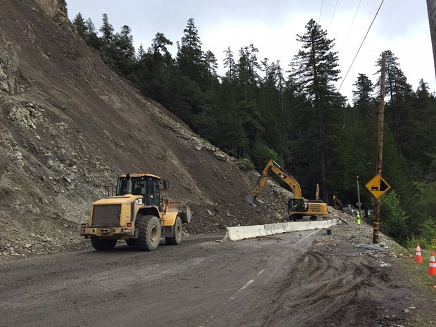 The slide north of Leggett. - COURTESY OF CALTRANS