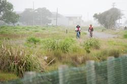 Cyclists enjoying the new trail. - PHOTO BY MARK MCKENNA