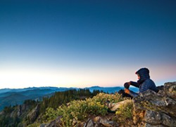 Coffee at the peak of Salmon Mountain - SEAN JANSEN