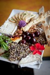 The cheese plate with Truffle Tremor, Humboldt Fog and homemade flatbread. - AMY KUMLER