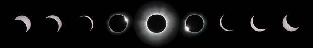Stages of a total eclipse. - NASA