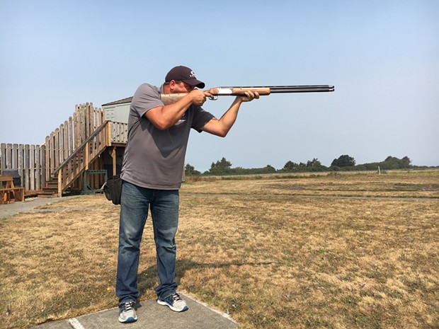 Dan Jones takes aim. - JENNIFER FUMIKO CAHILL