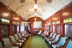 The parlor car at the Samoa Roundhouse. - MARK MCKENNA