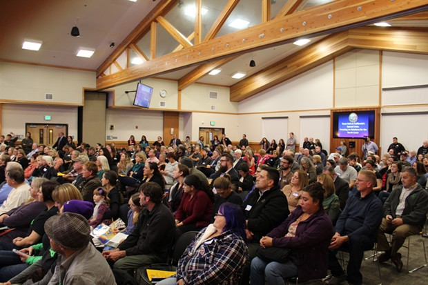 More than 250 people attended the opioid town hall meeting last night put together by state Sen. Mike McGuire and Humboldt County Supervisor Virginia Bass. - ANDREW GEORGE BUTLER