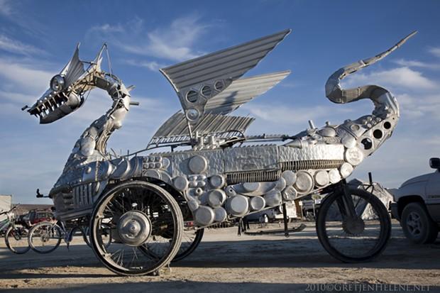 "Artist Duane Flatmo's ""Tin Pan Dragon"" will soon be heading to D.C. - PHOTO BY GRETJEN HELENE COURTESY OF DUANE FLATMO"