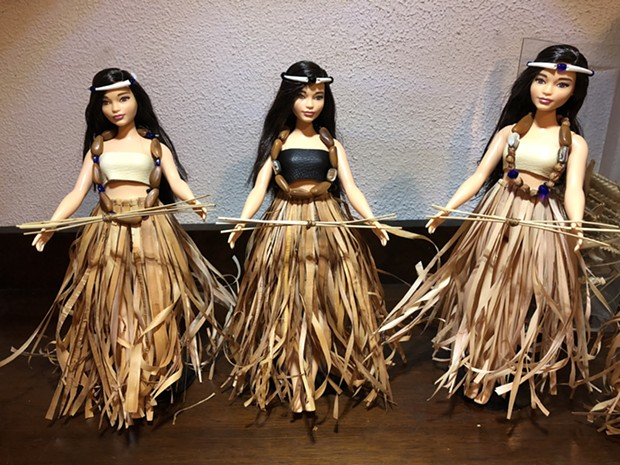 The sale of these Flower Dance girl dolls benefits Native Women's Collective. - PHOTO BY CUTCHA RISLING BALDY