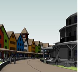 """A mock up of """"Halvorsen Village."""" - FROM THE SCHNEIDER PROPOSAL."""