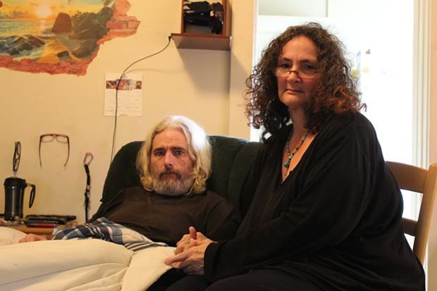 Don Brown and Debora Bronson in their apartment. - THADEUS GREENSON