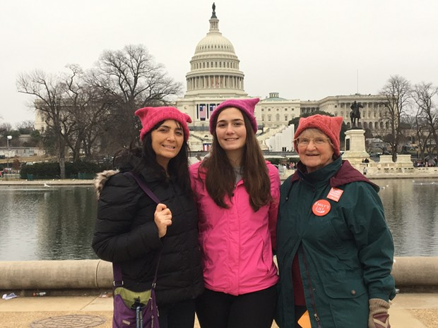 Peri Escarda with her daughter and mother in Washington, D.C. for the 2017 Women's March. - PHOTO BY AUTUMN SIMPSON