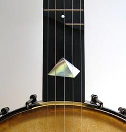 An inlaid Vance banjo. - COLIN VANCE