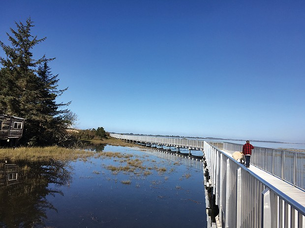 The newly-opened Eureka Waterfront Trail - PHOTO BY ROB HOLMLUND.