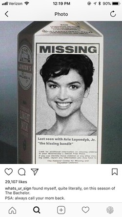 A screenshot of Rebekah Martinez's Feb. 2 Instagram post makes light of her once missing status, which was reported by news outlets throughout the country.