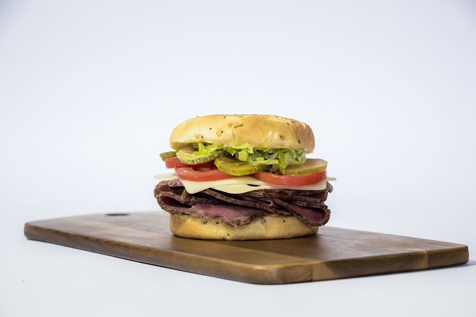Pastrami and swiss on an onion bun from the Ferndale Meat Co. - JILLIAN BUTOLPH