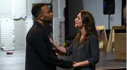 John Legend and Sara Bareilles in tonight's live TV musical. - FROM NBC.COM