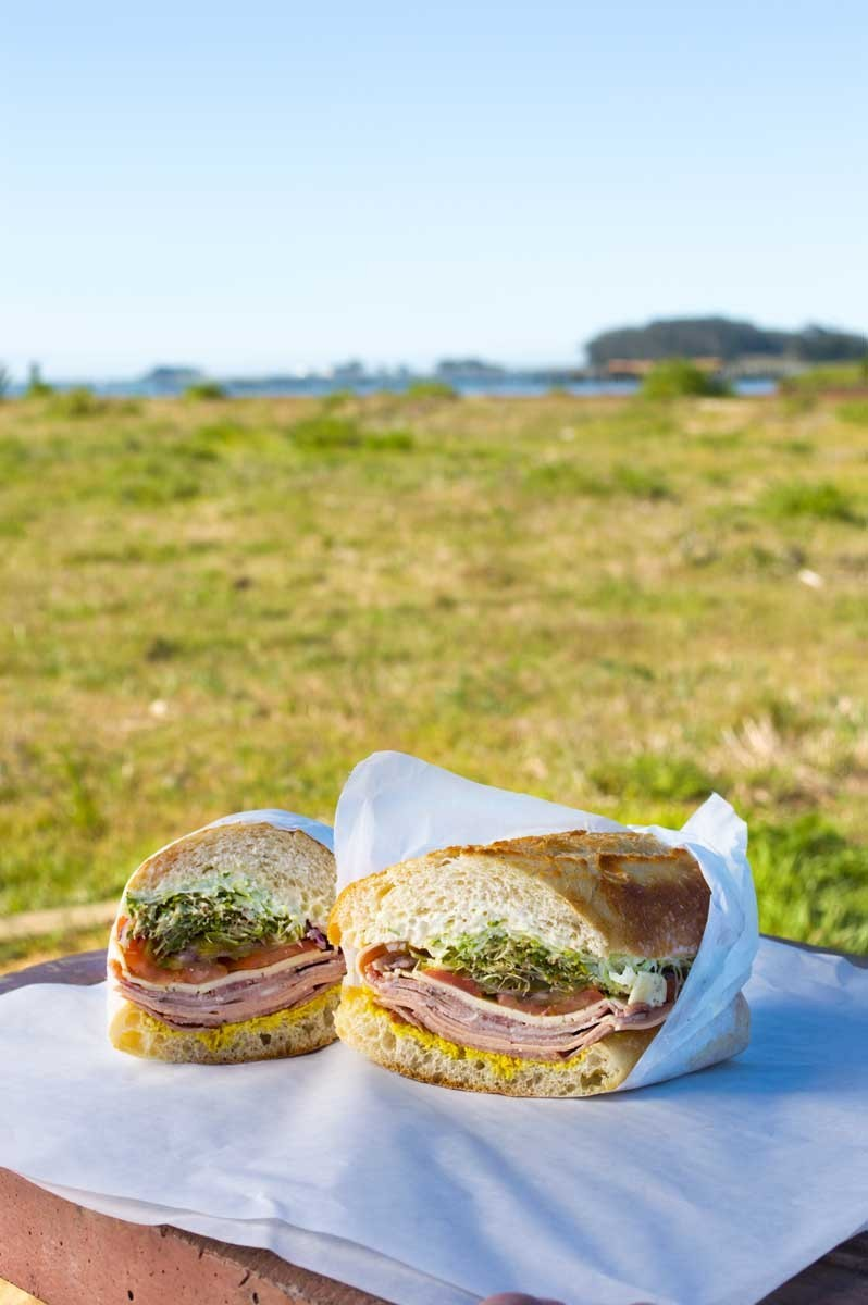 The five-meat Italian combo on the Eureka Waterfront trail. - AMY WALDRIP