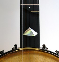 An inlaid Vance banjo. - COLIN VANCE