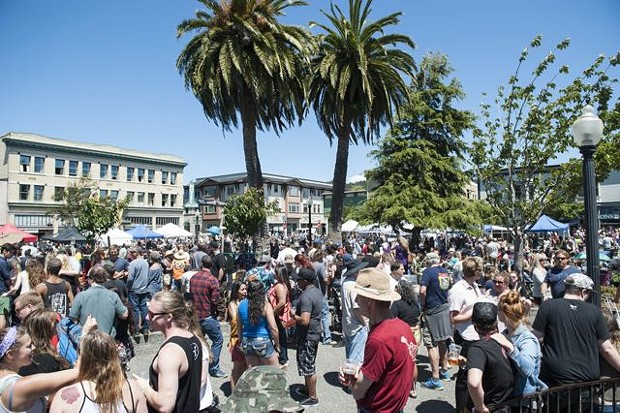 A busy Oyster Festival Day in 2017. - FILE