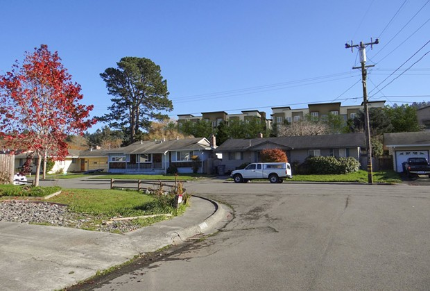 Conceptual photo illustration of how The Village project would look from the perspective of the Westwood neighborhood. - CITY OF ARCATA